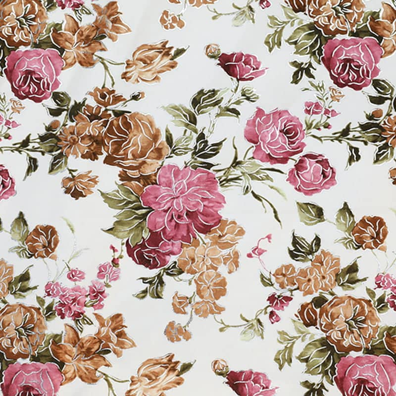 chinese upholstery fabric flower printing on fabric