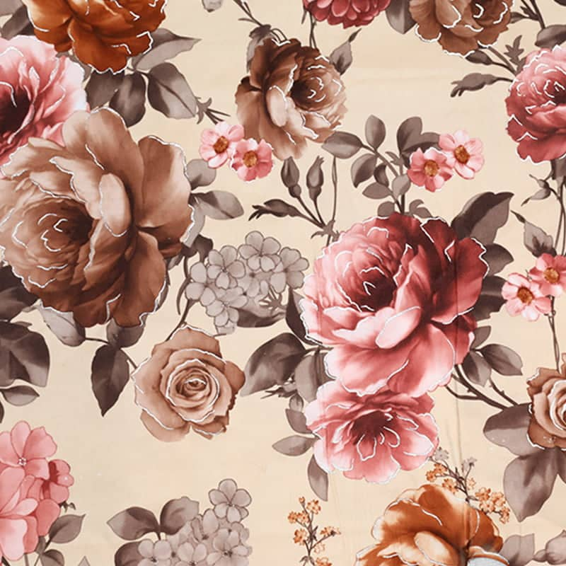 floral print flannel fabric