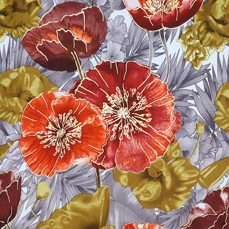 large floral print upholstery fabric
